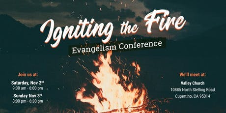 Igniting the Fire Evangelism Conference tickets