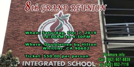 8TH ANNUAL GRAND REUNION OF UPHPEIS-AANA tickets