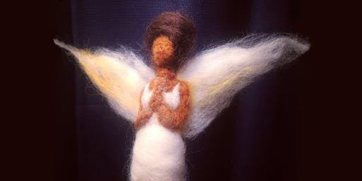 Needle Felted Angels workshop at Ragfinery