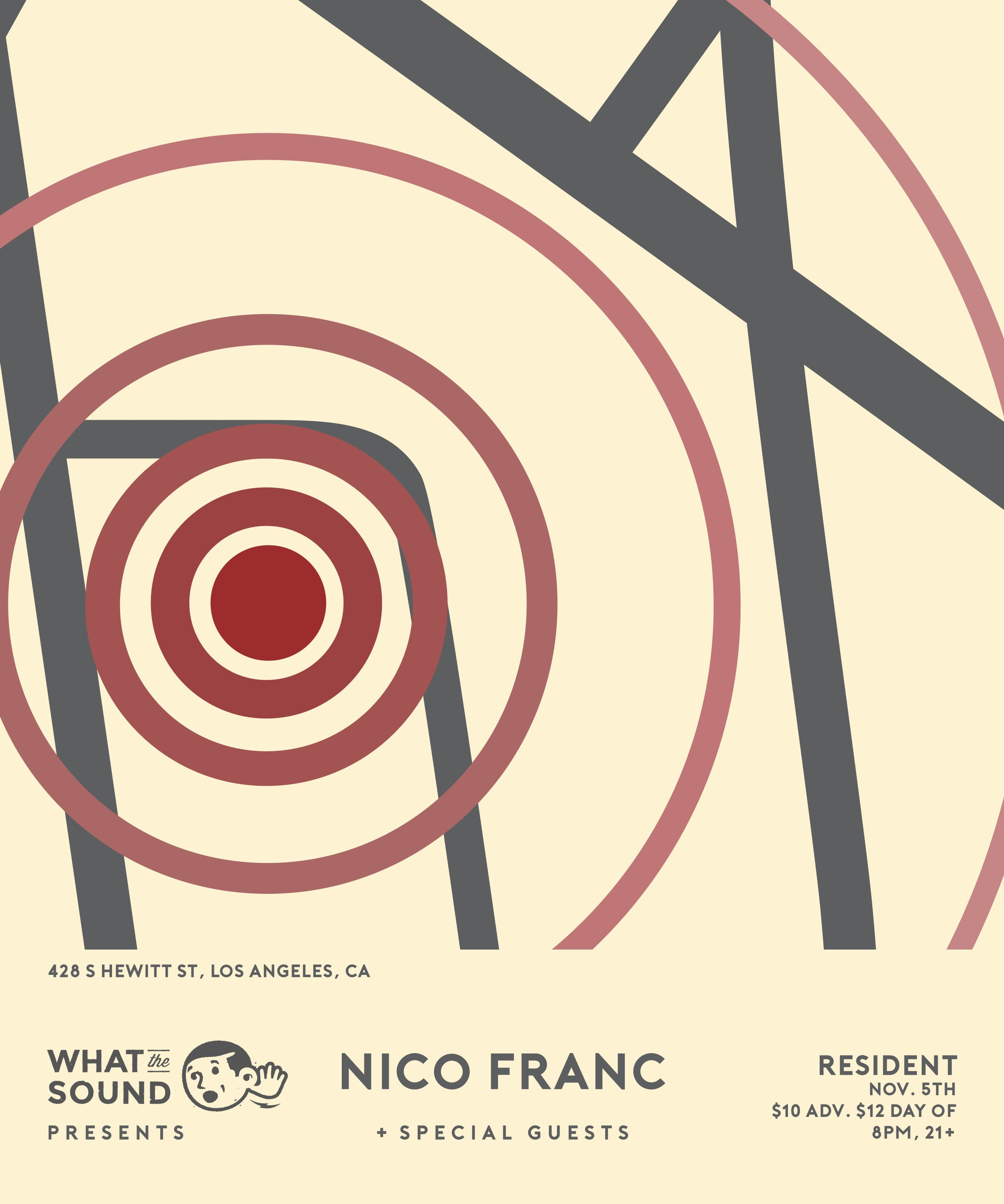 What The Sound Presents: Nico Franc + Special Guests