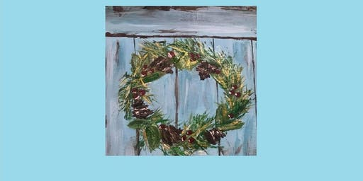 "Painting Party with Creatively Carrie ""Vintage Wreath"""