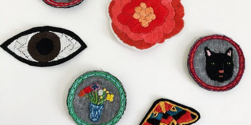 CLASS FULL - Make Your Own Embroidered Patch workshop at Ragfinery