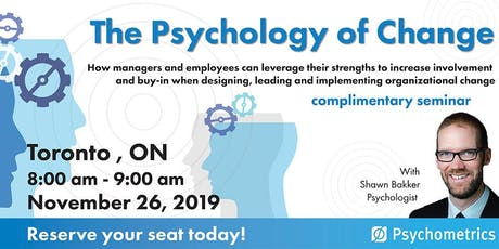 The Psychology of Change - Toronto tickets