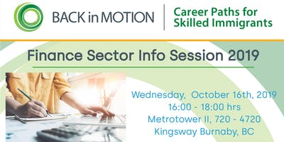 Back in Motion Finance Sector Info Session