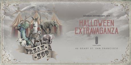Freak-A-Zoo Halloween Extravaganza - Saturday, October 26th tickets