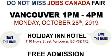 Vancouver Job Fair – October 28th, 2019 tickets