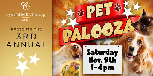 3rd Annual Pet Palooza