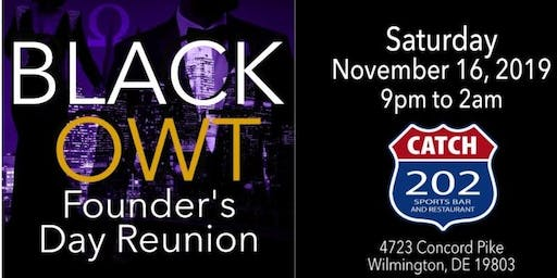 "Founder's Day ""BLACK OWT"" Reunion"