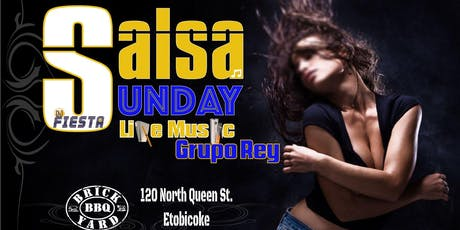 Salsa Sunday | Live Latin Music by Grupo Rey, Dance Lessons and more tickets