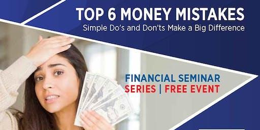 Top 6 Money Mistakes