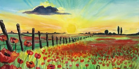 Paint & Sip Party Event - 'To Remember' at Greystones, SAWTRY, Cambs tickets