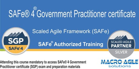 SAFe® 4 Government Practitioner Training & Certification tickets