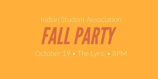Indian Student Association Fall Party
