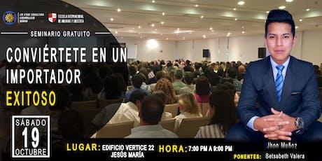 Seminario Gratis Conviértete En Un Importador Exitoso tickets