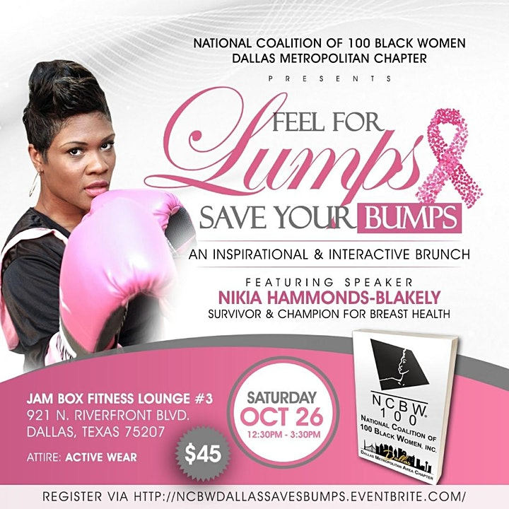 Feel for Lumps -  Save Your Bumps    A  Breast Cancer Awareness Event image