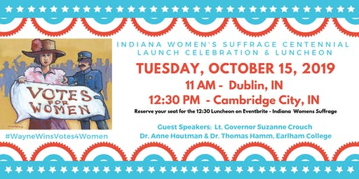 Indiana Women's Suffrage Centennial Launch Celebration