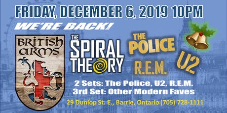 The Police /U2/ REM by The Spiral Theory at British Arms tickets