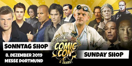German Comic Con Dortmund 2019 - SONNTAG Shop Tickets