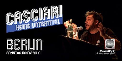 Hernán Casciari sin subtítulos — DOM 10 NOV, Berlín