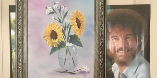 Bob Ross Floral Class: Sunflowers in a Jar