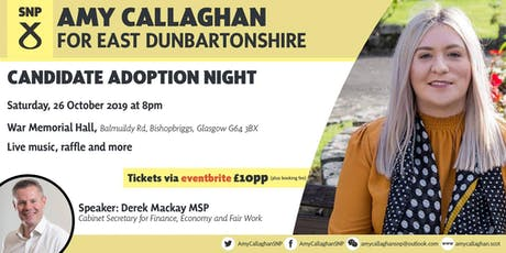 Amy Callaghan Adoption Night tickets