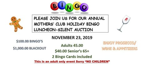 Mothers' Club Annual Holiday Bingo tickets