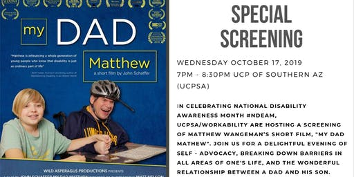 "Screening of Matthew Wangeman's short film ""My Dad Matthew"""