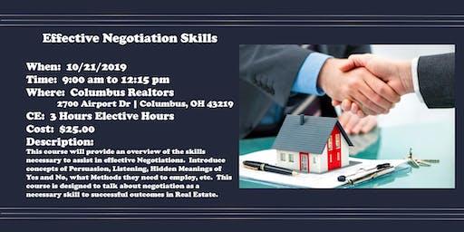 Effective Negotiations Skills