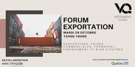 Forum Exportation billets