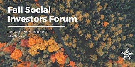 Fall 2019 Social Investors Forum tickets