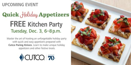 FREE Cooking Class: Quick Holiday Appetizers