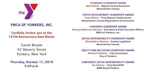 137th Anniversary Gala Dinner - Yonkers YMCA