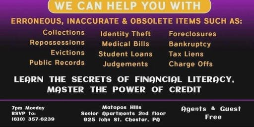 FREE POWER OF CREDIT Financial Literacy workshop
