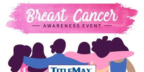 Pink Out for Breast Cancer at TitleMax Augusta, GA 5 tickets