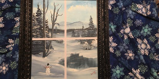 Bob Ross Painting Class. Winter Wonderland (October 30th)