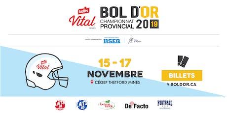 BOL D'OR 2019 - Championnat provincial de football collégial et scolaire - billets