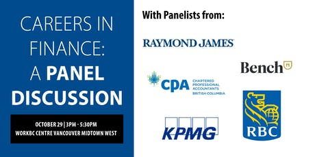 Careers in Finance: A Panel Discussion tickets