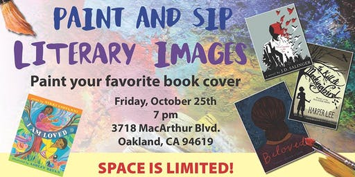 Literary Images Paint and Sip: Paint Book Cover Art!