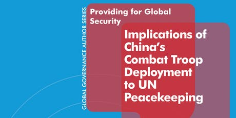 Global Governance Author Series | Courtney Fung on China & UN Peacekeeping tickets