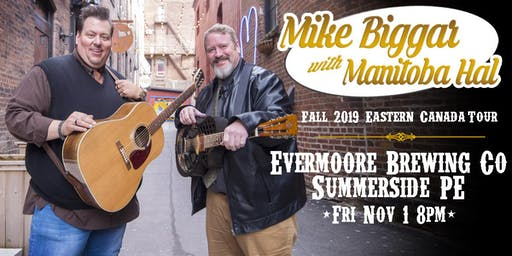 Mike Biggar with Manitoba Hal at Evermoore Brewing Co