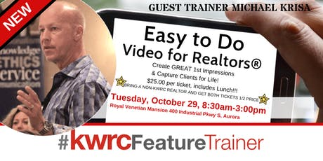 Easy To Do Video For Realtors® tickets