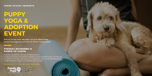 Puppy Yoga & Adoption Event