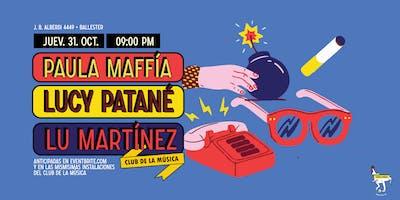 Paula Maffía, Lucy Patané y Lu Martínez en Ballester
