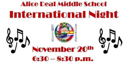 International Night @ Alice Deal Middle School