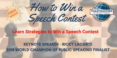 How to Win a Speech Contest - Advanced Toastmasters Open House tickets