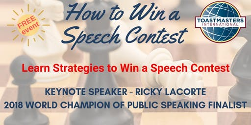 How to Win a Speech Contest - Open House Event