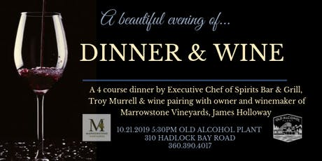 A beautiful evening of...dinner & wine tickets