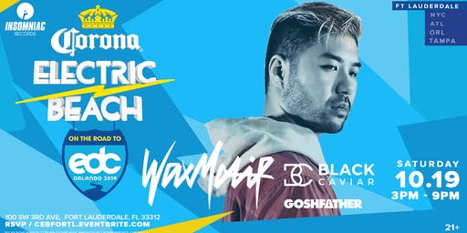 Corona Electric Beach 'Road to EDC Orlando' w/ Wax Motif & Black Caviar