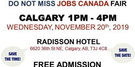 Calgary Job fair - November 20th 2019 tickets