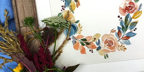 Watercolor Wreath Workshop (Lampeter Cafe) tickets